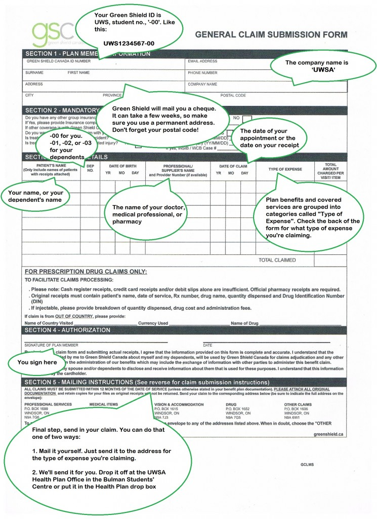 How to fill out a General Claim Form