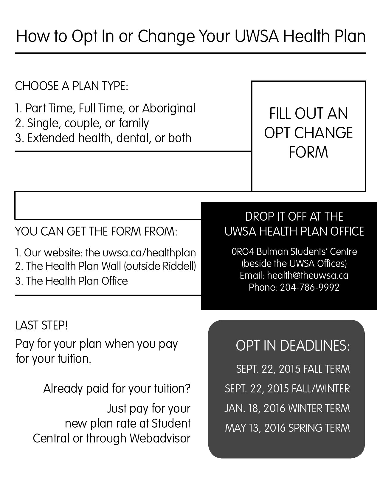 Check Out How To Opt In Or Change Your Plan Health Plan Faqs « The Uwsa