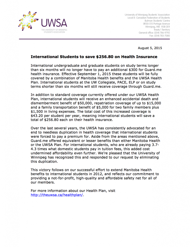 International Student Health Plan